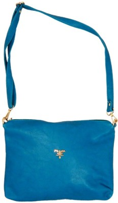 mezzo99 Women, Girls Blue PU Sling Bag