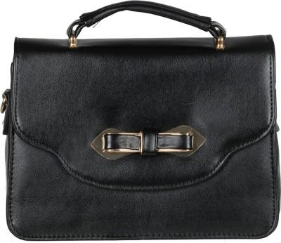 The Backbencher Women Black Leatherette Sling Bag