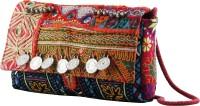 ThePurpleSack Girls Multicolor Cotton Sling Bag