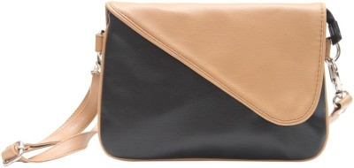 The Parallels Girls, Women Casual Beige PU Sling Bag