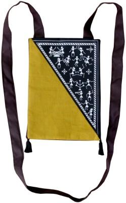 Villcart Women Black, Khaki Cotton Sling Bag