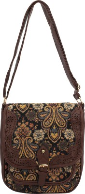 PST Women, Girls Brown, Multicolor PU Sling Bag