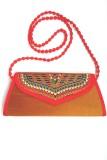 Indian Swan Women Gold Cotton Sling Bag