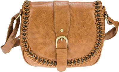 Neuste Women, Girls Brown Leatherette Sling Bag