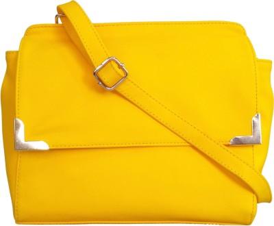 Toteteca Bag Works Women Yellow PU Sling Bag