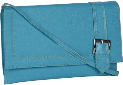 DnS Women, Girls Casual, Formal, Evening/Party Blue Leatherette Sling Bag