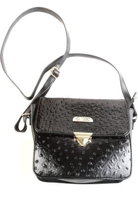 YBC Women Black PU Sling Bag