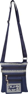 Sheetal Girls Blue Nylon Sling Bag