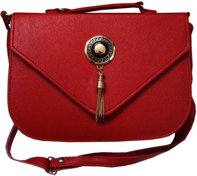 Navaksha Women Red PU Sling Bag