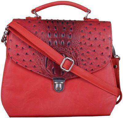 JAGADHARTI Women Maroon Leatherette Sling Bag