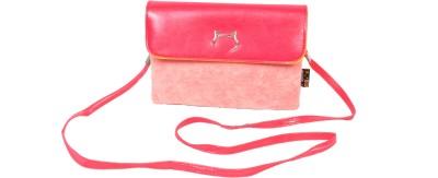 FabSeasons Women Casual Pink Velvet Sling Bag