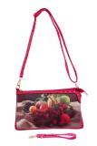 Cheery Women Pink PU Sling Bag