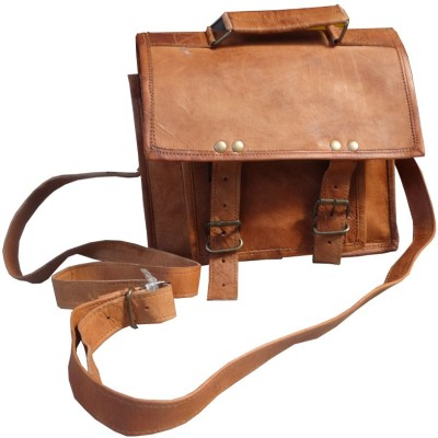 B-Unit Products Men, Boys Brown Genuine Leather Sling Bag