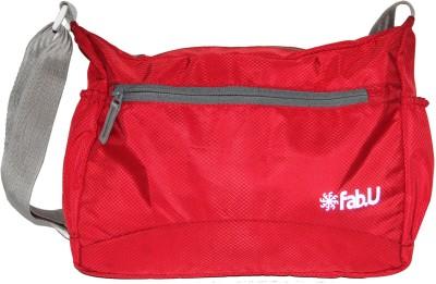 Fab U Men Red Polyester Sling Bag