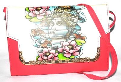 ShopperzGuide Girls, Women Pink Leatherette Sling Bag