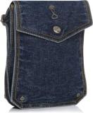 Srota Women Blue PU Sling Bag