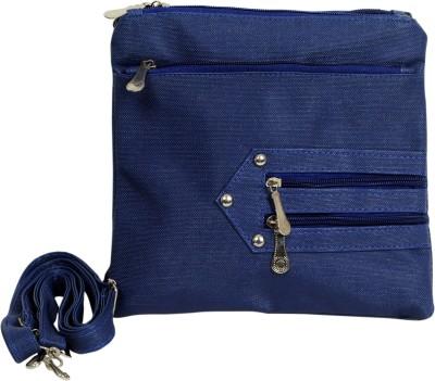 Arkgold Girls Blue PU Sling Bag