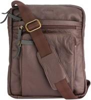 Gekko Men & Women Brown Genuine Leather Sling Bag