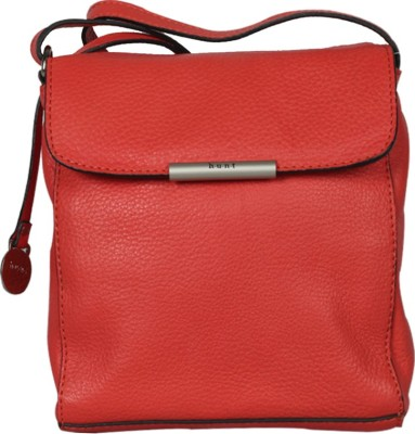 Hunt Women Casual Red Genuine Leather Sling Bag