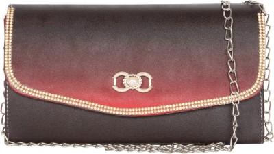 MTE Girls Red Leatherette Sling Bag