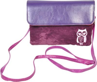 FabSeasons Women Casual Purple Velvet Sling Bag