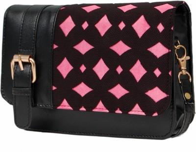 Borse Women Black PU Sling Bag