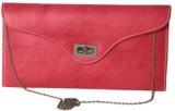 Kuero Women Pink Leatherette Sling Bag