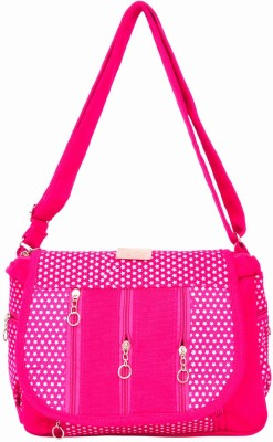 Fashion Spark Women, Girls Pink Canvas, Cotton Sling Bag