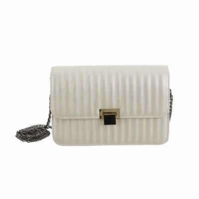 Peaubella Women Formal White PU Sling Bag