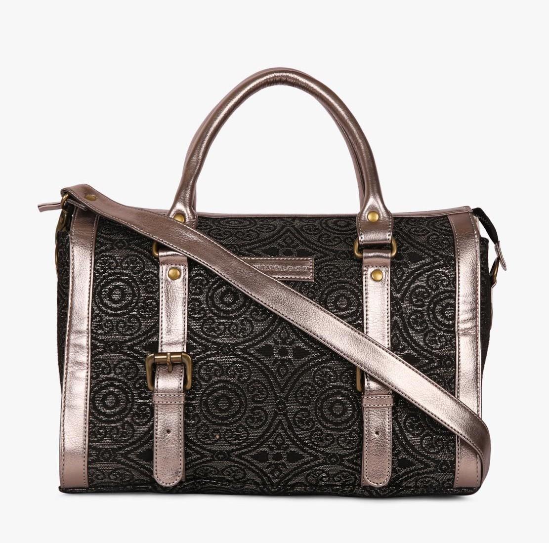 TWINOLOGY Women Grey Brocade Sling Bag