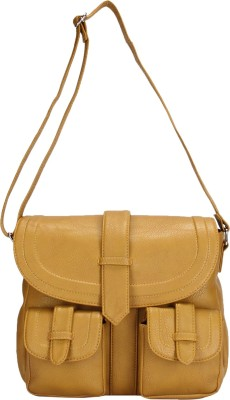 Starz Women, Girls Khaki PU Sling Bag