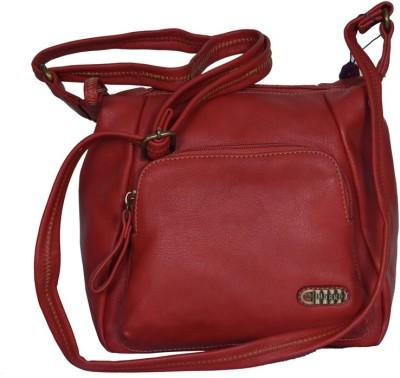 Baggo Women Red PU Sling Bag