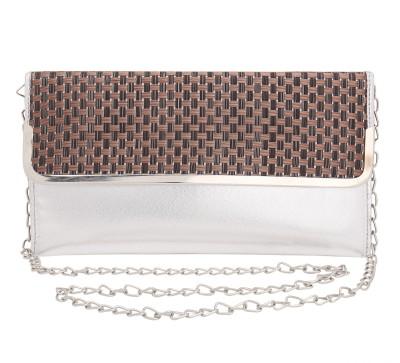 Liana Bags Girls Casual Silver, Brown PU Sling Bag