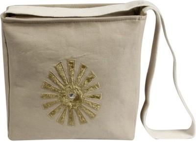 Needlecrest Men, Women Casual Beige Canvas Sling Bag
