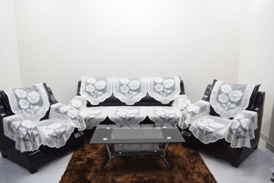 KINGLY Polyester Sofa Cover(Off White Pack of 12)