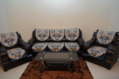 KINGLY Jacquard Sofa Cover(AQUA Pack of 6)