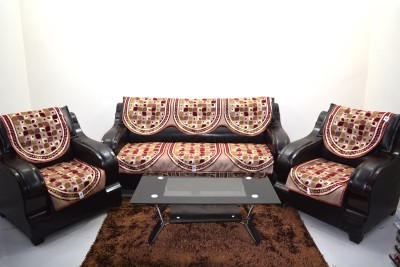 KINGLY Jacquard Sofa Cover(Mharoon Pack of 6)