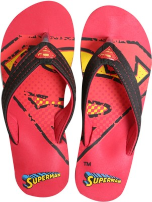 Emerge Authentic Superman Red Men's Slippers Flip Flops