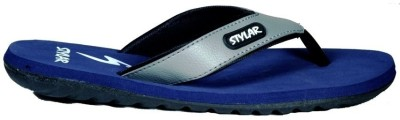 Stylar Grey And D. Blue Ronaldo Flip Flops