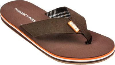 Tangerine Toes Royal Check Flip Flops