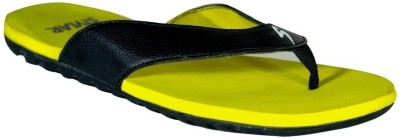 Stylar Yellow And Black Watson Flip Flops