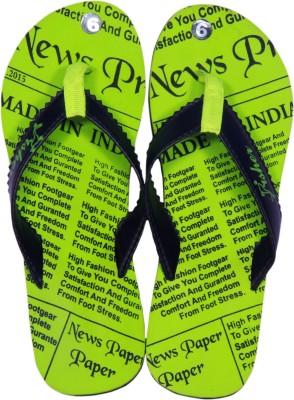 Fisher Newspaper Flip Flops