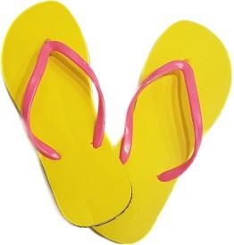 Amatra Girls Slipper Flip Flop(Yellow)