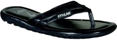 Stylar Black Dr. Comfort Flip Flops