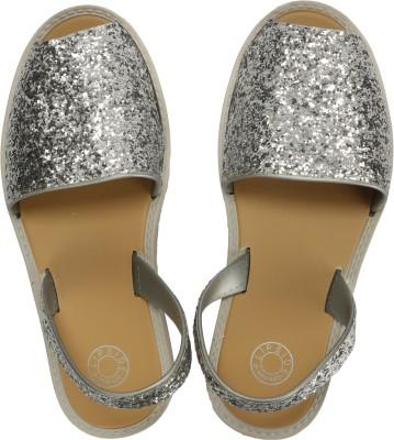 Flipside Women Silver Flats