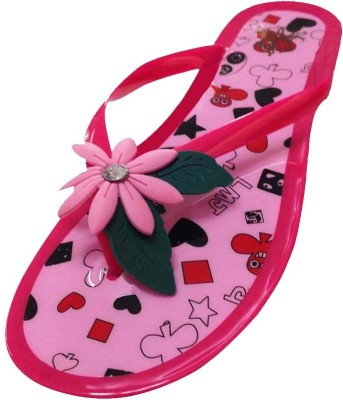 Emerge Pink Silicon Flower Slippers