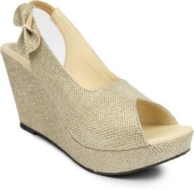 GOWELL Girls Slipper Flip Flop(Gold)