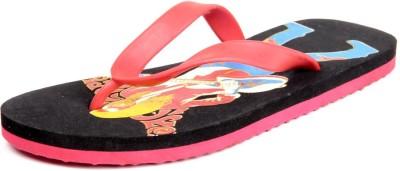 Foot Clone Black & Red Flip Flops
