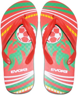 Edazo Red Football Flip Flops