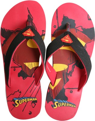 Emerge Authentic Superman Red Men,s Slippers Flip Flops
